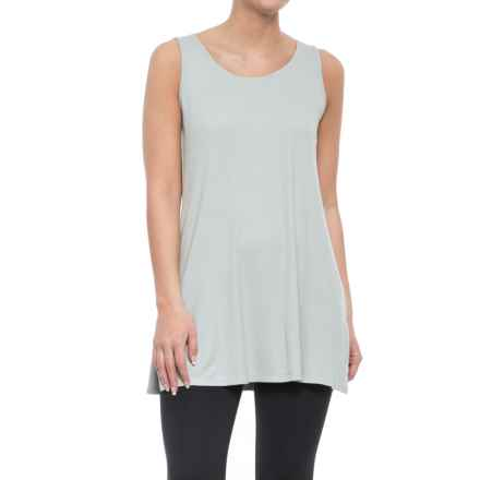 CG Cable & Gauge Zip-Back Tunic Tank Top (For Women) in Silver Dollar - Overstock