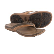 Chaco Abril Flip-Flops - Leather (For Women) in Cymbal - Closeouts
