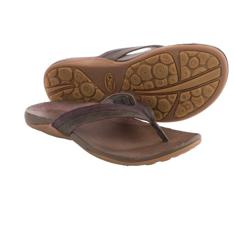 Chaco Abril Flip Flops Leather For Women