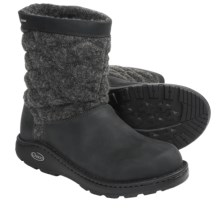 Chaco Arbora Boots - Wool, Leather (For Women) in Black - Closeouts
