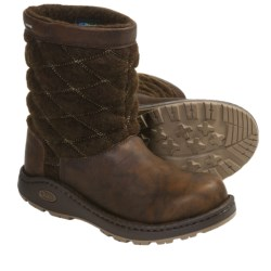 Chaco Arbora Boots - Wool, Leather (For Women) in Chocolate Brown