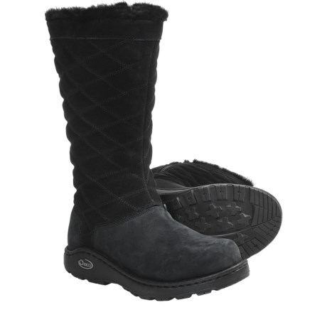 Chaco Arbora Tall Boots - Waterproof, Leather (For Women) in Shiitake