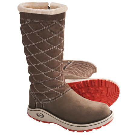 Chaco Arbora Tall Boots - Waterproof, Leather (For Women) in Chocolate Brown