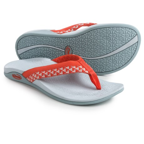 Chaco Aurora Cloud Flip-Flops (For Women) in Block Tango