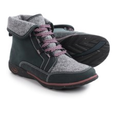 Chaco Barbary Lace Boots - Leather-Wool (For Women) in Blue Steel - Closeouts
