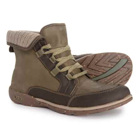Chaco Barbary Lace Boots - Leather-Wool (For Women) in Ivy
