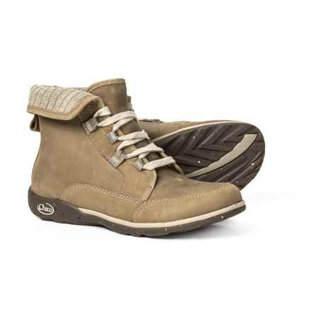 Chaco Barbary Lace Boots - Leather-Wool (For Women) in Mink