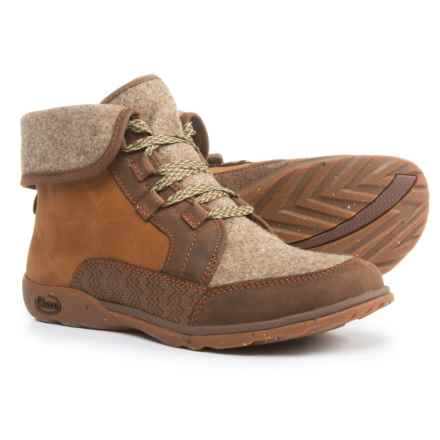 Chaco Barbary Lace Boots - Leather-Wool (For Women) in Pinecone