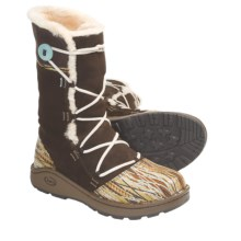 Chaco Belyn Baa Boots - Leather (For Women) in Chocolate Brown - Closeouts