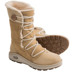 Chaco Belyn Baa Leather Boots - Vibram® Outsole (For Women) in Tan