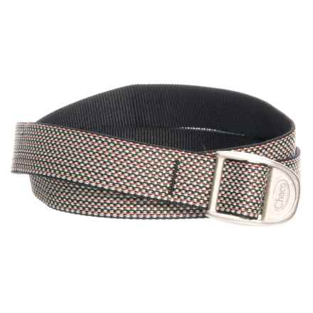 "Chaco Bottle Opener Webbing Belt - 1"" (For Women) in Moonless Weave - Closeouts"