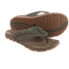 Chaco Cabrera Flip-Flops - Leather (For Men) in Grape Leaf - Closeouts