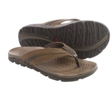 Chaco Cabrera Flip-Flops - Leather (For Men) in Otter - Closeouts