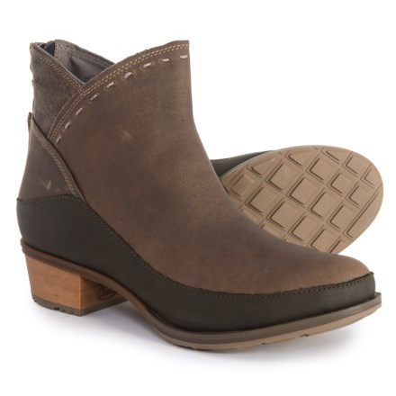 87698a24d51 Chaco Cataluna Mid Booties - Leather (For Women) in Fossil