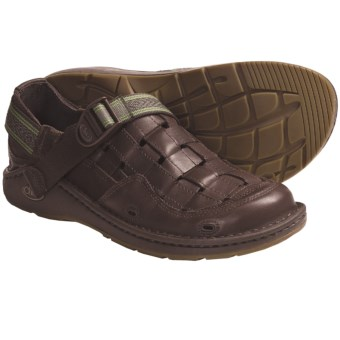 Chaco Conundrum Sandals - Leather (For Men) in Chocolate Brown/Grove