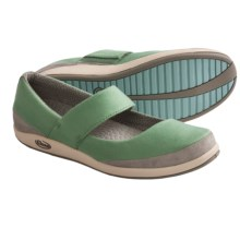 Chaco Coral Ana Mary Jane Shoes - Canvas (For Women) in Deep Grass Green - Closeouts