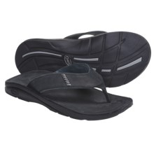 Chaco Cordonazo Ecotread Thong Sandals - Leather (For Men) in Black - Closeouts