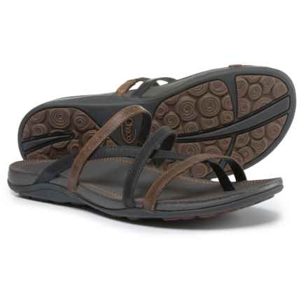 Chaco Cordova Leather Sandals (For Women) in Caramel Cafe - Closeouts