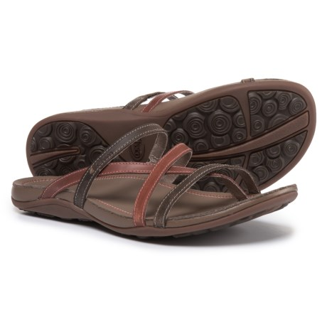 Chaco Cordova Leather Sandals (For Women) in Flamingo