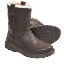 Chaco Credence Baa Snow Boots - Shearling Lined, Slip-Ons, Leather (For Men) in Chocolate Brown - Closeouts