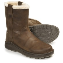 Chaco Credence Baa Snow Boots - Shearling Lined, Slip-Ons, Leather (For Men) in Leather Brown - Closeouts