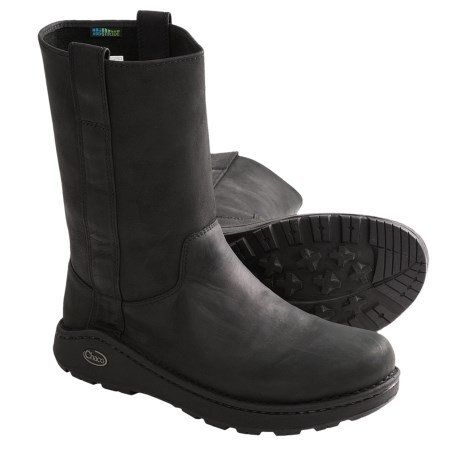 Chaco Credence Tall Nurl Boots - Leather (For Men) in Black