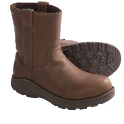 Chaco Credence Wool Snow Boots - Waterproof, Slip-Ons, Leather (For Men) in Chocolate Brown