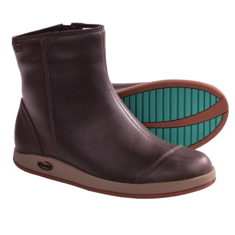 Chaco Darcy Boots - Waterproof, Leather (For Women) in Chocolate Brown