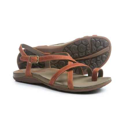 Chaco Dorra Leather Sandals (For Women) in Flamingo - Closeouts