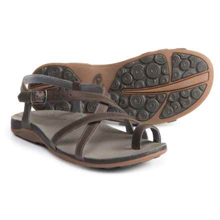 Chaco Dorra Leather Sandals (For Women) in Nickel - Closeouts