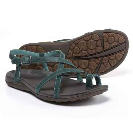 Chaco Dorra Leather Sandals (For Women) in Teal - Closeouts