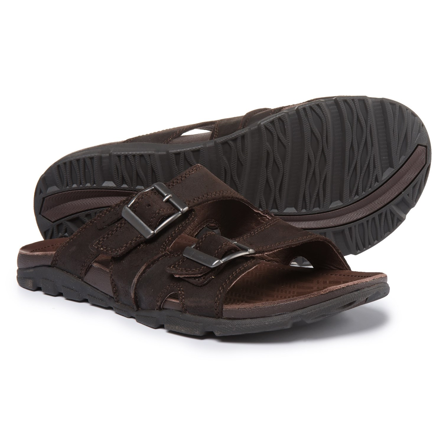 Chaco Elias Leather Sandals (For Men) in Java ...