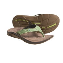 Chaco Etesia EcoTread Thong Sandals - Flip-Flops, Recycled Materials (For Women) in Spinach - Closeouts
