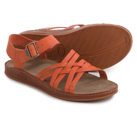 Chaco Fallon Sandals - Leather (For Women) in Flamingo