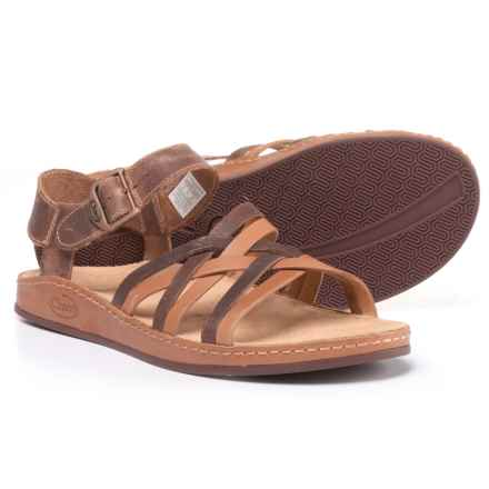 Chaco Fallon Sandals - Leather (For Women) in Toasted Brown - Closeouts