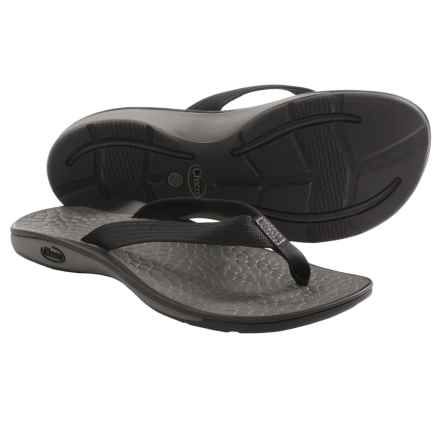 Chaco Fathom Flip-Flops (For Women) in Black - Closeouts