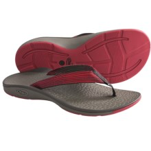 Chaco Fathom Sandals - Flip-Flops (For Men) in Deep Dive Red - Closeouts