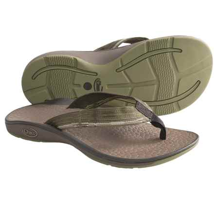 Chaco Fathom Sandals - Flip-Flops (For Men) in Seeing Green - Closeouts