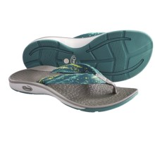 Chaco Fathom Sandals - Flip-Flops (For Women) in Tidal Wave - Closeouts