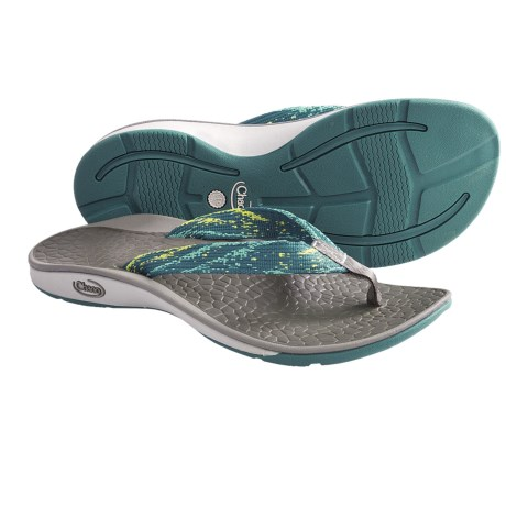 Chaco Fathom Sandals - Flip-Flops (For Women) in Tidal Wave