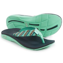 Chaco Flip EcoTread Flip-Flops  (For Women) in Aqua Steps - Closeouts
