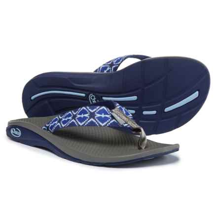 Chaco Flip EcoTread Flip-Flops  (For Women) in Erratic Blues - Closeouts