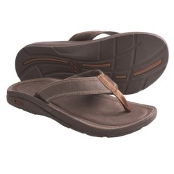 Chaco Flip of Faith EcoTread Flip-Flop Sandals - Leather (For Men) in Gunmetal