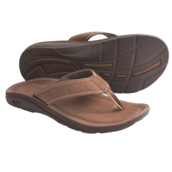 Chaco Flip of Faith EcoTread Flip-Flop Sandals - Leather (For Men) in Leather Brown