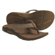 Chaco Flippa EcoTread Thong Sandals - Flip-Flops, Leather, Recycled Materials (For Women) in Bison - Closeouts