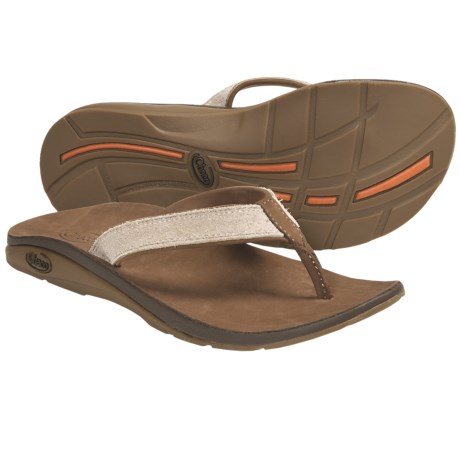 Chaco Flippa EcoTread Thong Sandals - Flip-Flops, Leather, Recycled Materials (For Women) in Sand