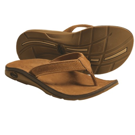 Chaco Flippa EcoTread Thong Sandals - Flip-Flops, Leather, Recycled Materials (For Women) in Red