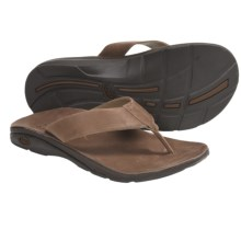 Chaco Flippin Brewhaha EcoTread Sandals - Flip-Flops (For Men) in Leather Brown - Closeouts