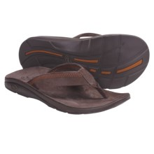 Chaco Flippin Chill Ecotread Thong Sandals - Flip-Flops, Recycled Materials (For Men) in Chocolate Brown - Closeouts