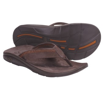 Chaco Flippin Chill Ecotread Thong Sandals - Flip-Flops, Recycled Materials (For Men) in Chocolate Brown